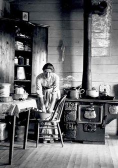 Montana farm kitchen in the early 1900's