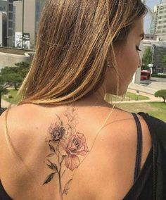 Great back piece, delicate and beautiful.