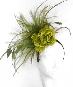 Olive Green Fascinator Hat for Weddings by Hatsbycressida on Etsy, $80.00