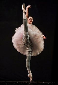 MARIA DOVAL BALLET - Love the striped warmies under the frilly pink toot!