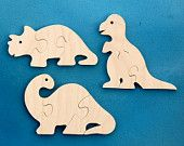 Dinosaur Party Favors - Childrens Wooden Puzzles - Package of 12 Dinosaur Puzzles - Great for Toddler and Childrens Parties Toddler Fun, Toddler Toys, Kids Fun, Wooden Crafts, Diy And Crafts, Dino Toys, Dinosaur Toys, Dinosaur Puzzles, Dinosaur Party Favors