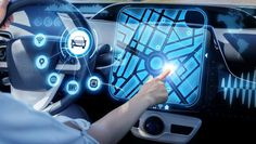 futuristic vehicle and graphical user interface(GUI). Internet of Things. Heads up display(HUD). Head Up Display, New Inventions, Futuristic Cars, Car Images, Self Driving, Future Car, Amazing Cars, User Interface, Fun Facts