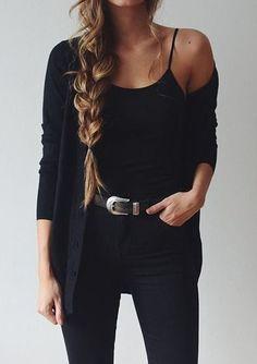 Trendy   all black, classic