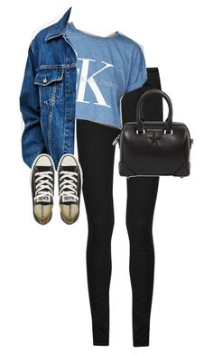 """""""Untitled #11985"""" by alexsrogers ❤ liked on Polyvore featuring Yves Saint Laurent, Calvin Klein, Calvin Klein Jeans, Converse and Givenchy"""