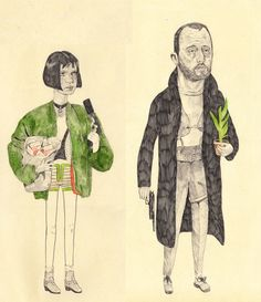 Terrific little drawings capturing characters from various cult films by illustrator Ryan Humphrey. More images below.                       Ryan Humphrey's Website