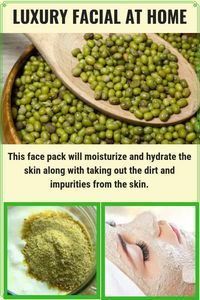 Green Gram Face Mask To Get Fair & Glowing Face #glowingskin #facepack #skincare #diy #homeremedies #AloeVeraBeautyHacks
