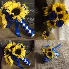 All about yellow flowers for your garden put a smile on your face sunflower bouquet with boutonniere sunflower royal blue rose wedding bouquet blue yellow bouquet sunflower bridal bouquet rustic bouquet mightylinksfo