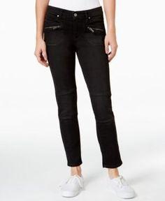Calvin Klein Jeans Zip-Pocket Skinny Ankle Jeans - Black 3