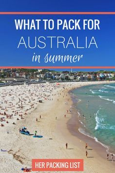 After living here for the last 2 years and exploring the country on my own time, I have just about figured out the perfect packing list for Australia summer.