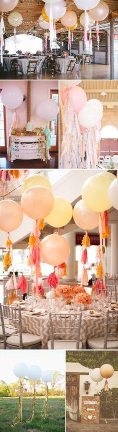 Decoración: globos gigantes en tu boda                                                                                                                                                      Más