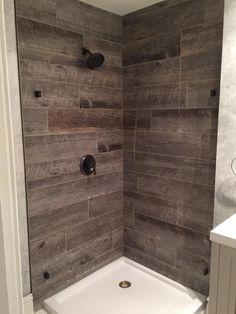 Rustic Bathroom Barnwood Ceramic Tile House Rustic