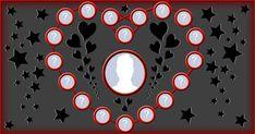 Colaj foto cu 18 prieteni, forma de inima!