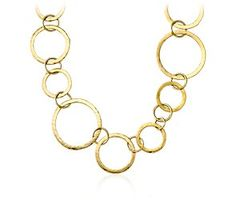 Multi Circle Necklace in 18k Yellow Gold