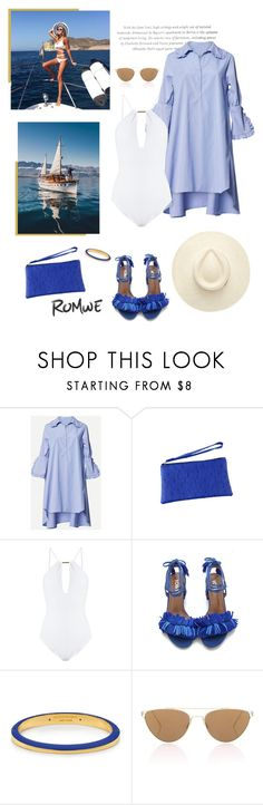 """""""Ready for Summer"""" by isidora ❤ liked on Polyvore featuring Melissa Odabash, Henri Bendel and Oliver Peoples"""