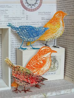 Inspired by Joseph Cornell: Making a Decorative Aviary Box by Andrea Butler at www.accessart.org.uk