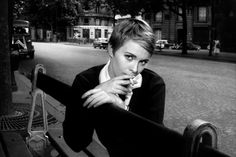 My favorite era of film is the French New Wave cinema--Godard, Truffaut, Lelouch , etc. I was introduced to Jean Seberg as most probabl. Jean Seberg, Jean Shrimpton, Marianne Faithfull, Short Hair Cuts, Short Hair Styles, Estilo Tomboy, French New Wave, Look Short, Mia Farrow