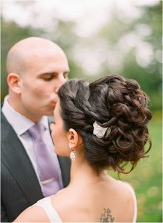 Wedding updo for long hair / curly hair