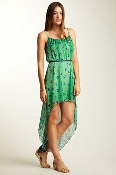 Leopard Print Hi-Lo Dress by PINKOWL