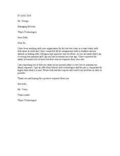 A salary proposal template helps an employee gets hisher desirable sample request letter altavistaventures Gallery