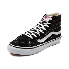 34682476241 Vans Hi Slim Skate Shoe in Black White at Journeys Shoes.