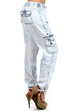Cargo Accent Denim Pants - $68 at OnlyLeggings.com #OnlyLeggings