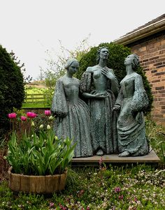 I'm obsessed with anything the Bronte sisters wrote. I would love to visit this statue of them in Haworth, England! I love to find anything in my travels to do with history/ literature.