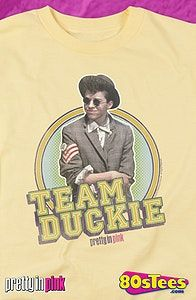 Pretty in Pink Movie TEAM DUCKIE Vintage Style Women/'s T-Shirt All Sizes