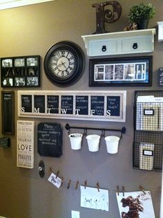 I never knew there was a name for a spot in the house like this- a command center. I need to create one of these organizational spaces!
