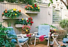 I really like these planter boxes and the color mounted to the fence.  But I don't have a solid fence.  I wonder if I can modify them to make it work on my wrought iron fence?