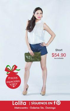 El short es una pieza que no debe faltar en tu closet, ademas de jugar el papel de casual y elegante, resulta muy cómodo :)