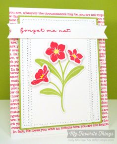 Forget Me Not, Forget Me Not Die-namics, Fishtail lags STAX Die-namics - Jody Morrow #mftstamps