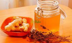 Sirop de GHIMBIR, CIMBRU și BUSUIOC, cu miere, la rece (video) | La Taifas Detox, Honey, Healthy, Yami Yami, Food, Remedies, Therapy, Syrup, Canning