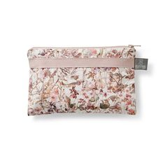 Small pink Wildflower purse for the little bits & pieces in your handbag - see our store for matching products such as toiletry bags, baby bibs & more
