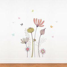 Flowers and Butterflies Per Seryana
