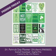 Free Printable St. Patrick's Day Planner Stickers from My Life Planners
