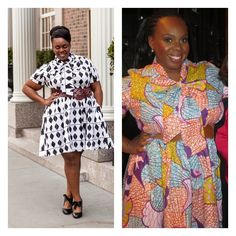 "All Things Ankara: Plus Size Princess "" CeCe Olisa "" Wearing ""Minnie Bell"" Dress from Demestiks on the Wendy Show"
