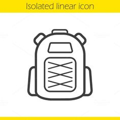 Backpack icon. Vector @creativework247