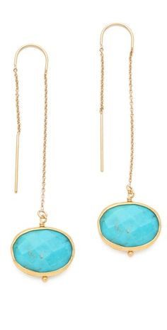 turquoise / gold / thread thru