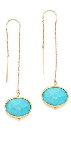 turquoise / gold / thread thru