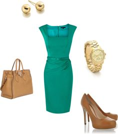 green dress, created by trg2155 on Polyvore:  For my date at the Broadmoor - oh wait, that was just my imagination!