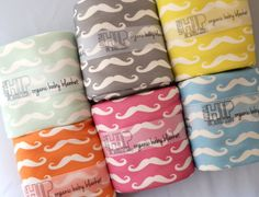 Mustache Baby Blanket, Choose Your Color, Organic Baby Bedding.