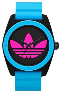 adidas Originals 'Santiago' Logo Dial Watch, 42mm available at #Nordstrom