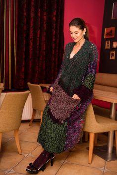 pulover crosetat,oversized,pufos