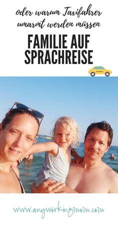 Familie auf Sprachreise – oder warum Taxifahrer umarmt werden müssen Camping, Movies, Movie Posters, Taxi Driver, Hug, Traveling With Children, Family Vacations, Parents, Language