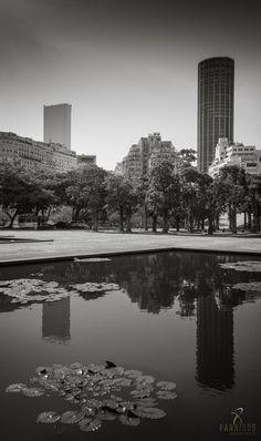 MAM - City Center Perspective from MAM - Museu de Arte Moderna, in Rio de Janeiro
