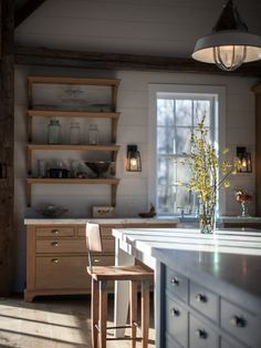 country kitchen.  pretty mix.