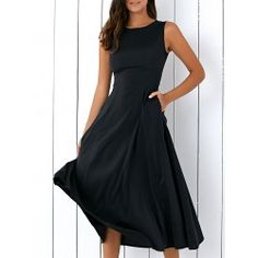 SHARE & Get it FREE | Casual Round Neck Sleeveless Loose Fitting Midi Dress For WomenFor Fashion Lovers only:80,000+ Items • FREE SHIPPING Join Twinkledeals: Get YOUR $50 NOW!