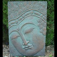 Buddha Plaque - ideal for any walls facing into your garden space