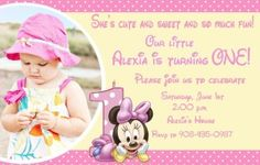 Personalized Minnie Mouse Invitation Sample