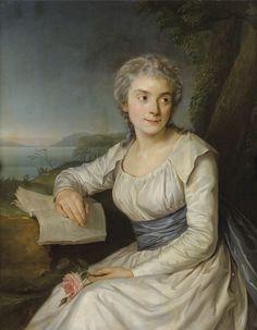 La Comtesse de Lameth, née Marie-Anne de Picot de Bayonne (1768-1825) ? / peut-être est-ce la femme de Charles Malo François de Lameth ? / By Labille-Guiard, 1790's.